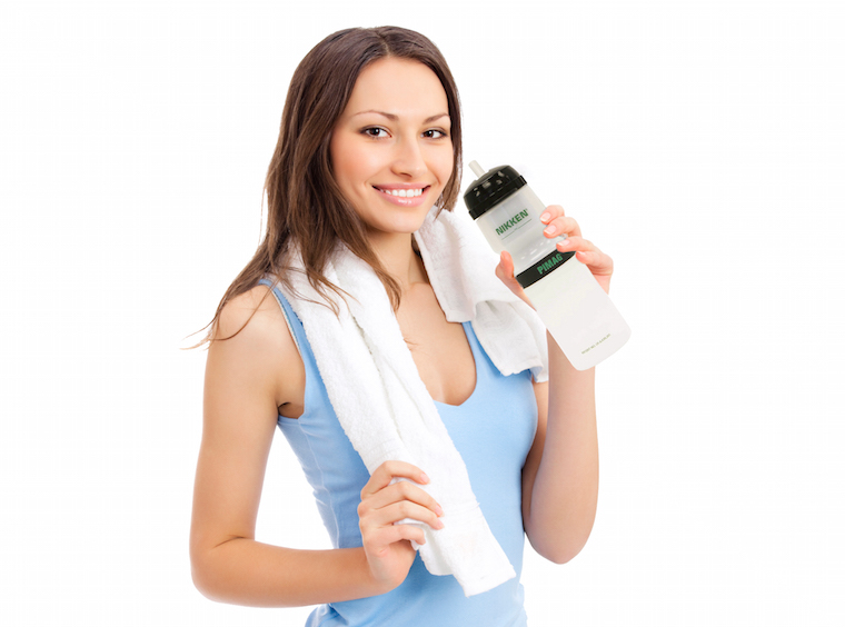 Woman With Sports Bottle